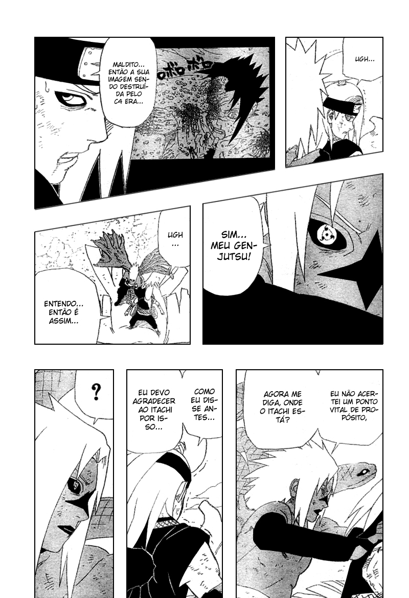 Sasuke venceu Deidara porque ele era counter? 15