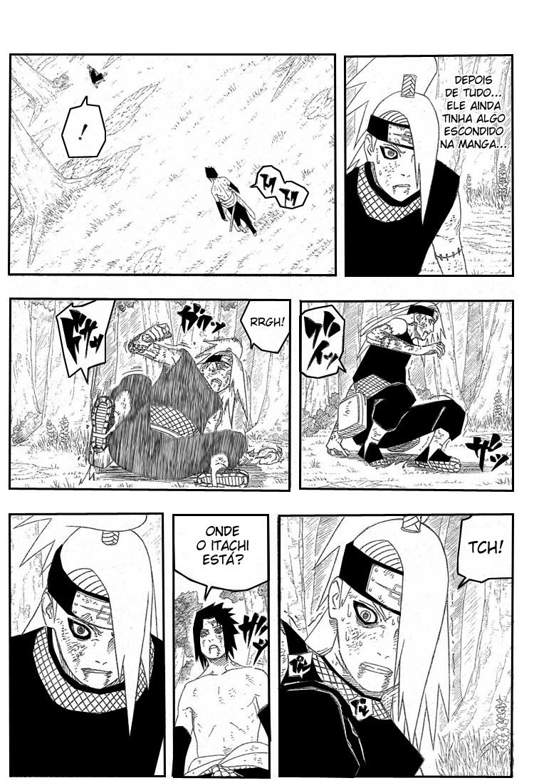 Sasuke venceu Deidara porque ele era counter? 03