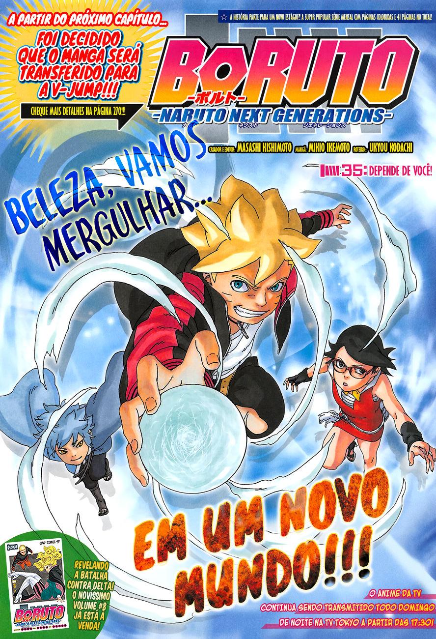 O que a mudança de editora (Shonen Jump para V-Jump) significa para Boruto 01
