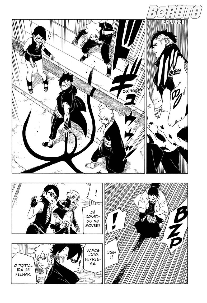 Momoshiki pode absorver o Kamui do Kakashi ? 37